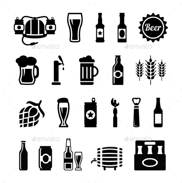GraphicRiver Set of Beer Icons 10835472