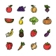 Flat Line Vegetables Icons Vector  - GraphicRiver Item for Sale