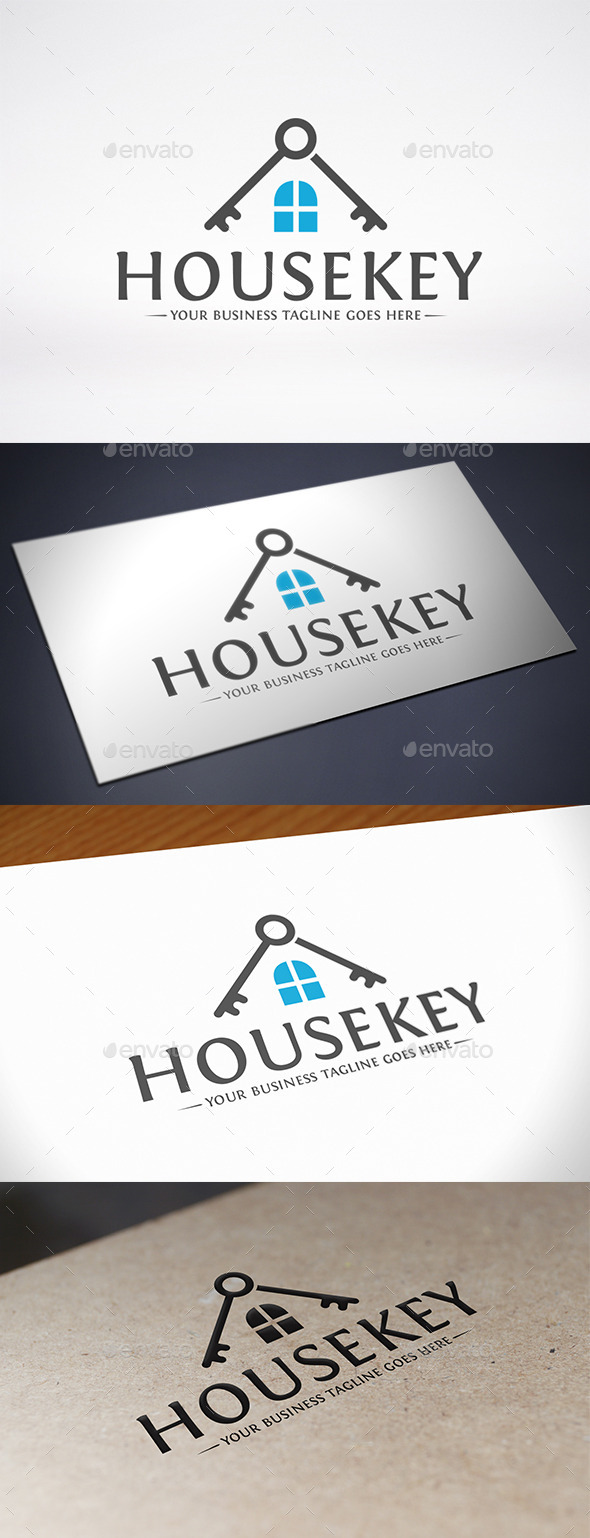 GraphicRiver House Key Roof Logo Template 10838757