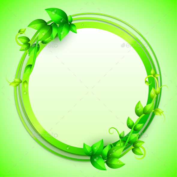 GraphicRiver Green Leaves Banner 10799448