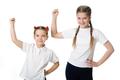 Little girls celebrate on white - PhotoDune Item for Sale