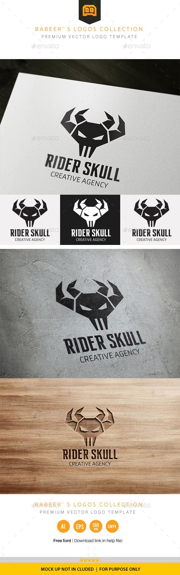 GraphicRiver Rider Skull 10839520
