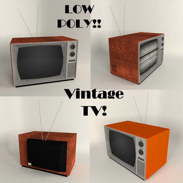 Vintage TV - 3DOcean Item for Sale