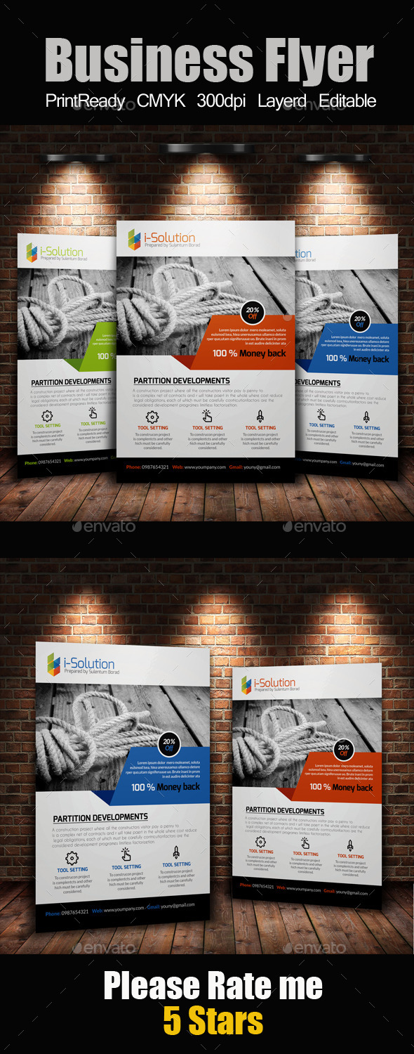 GraphicRiver A4 Business Flyer Template 10839797