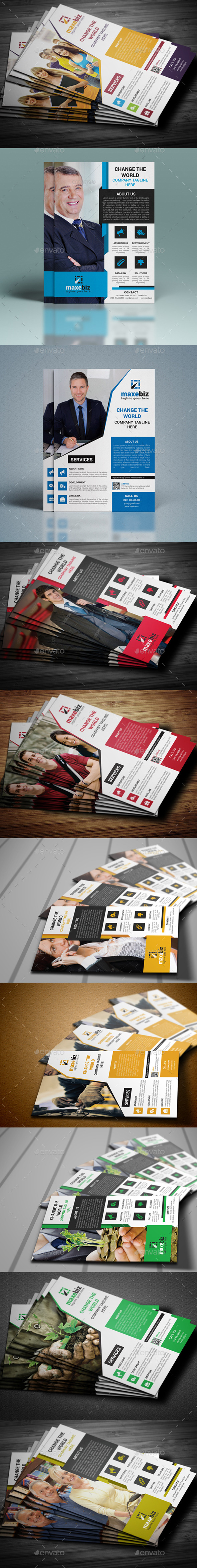 GraphicRiver Corporate Business Flyer Bundle 10839966