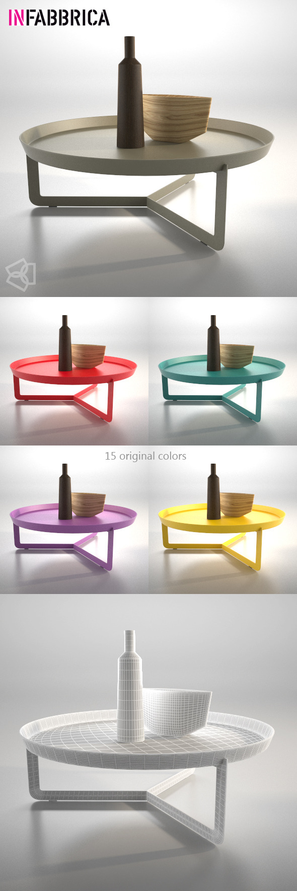 3DOcean Table Round3 by Infabbrica 10840214