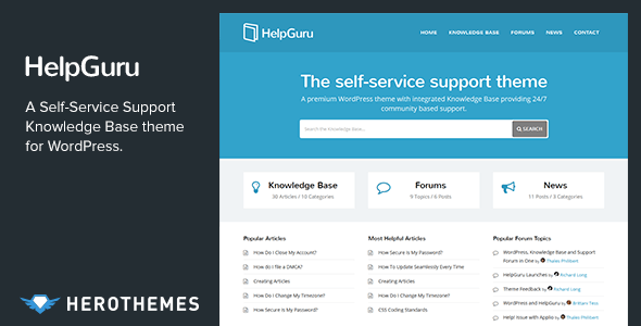 HelpGuru - A Self-Service Knowledge Base WordPress Theme - Miscellaneous WordPress