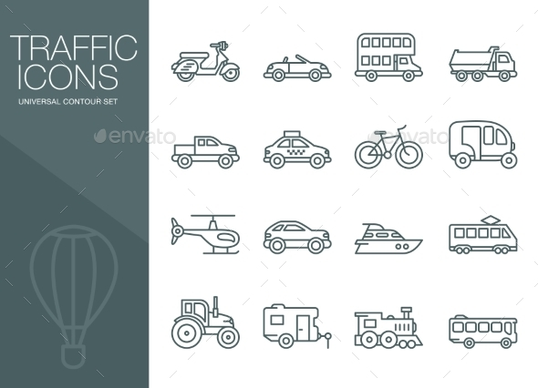 GraphicRiver Logistic Icons Set Vector 10840306