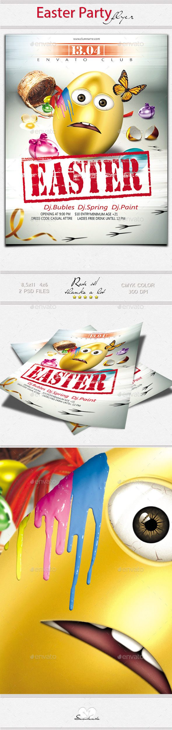 GraphicRiver Easter Party New 10840309