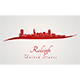 Raleigh Skyline in Red - GraphicRiver Item for Sale