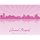 Grand Rapids Skyline - GraphicRiver Item for Sale