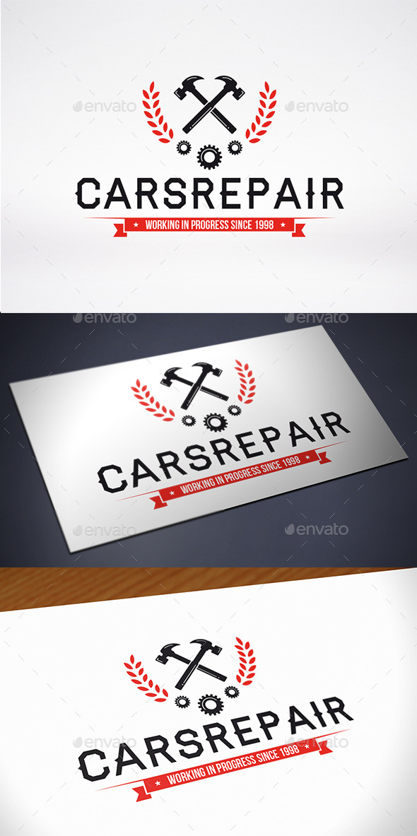 GraphicRiver Repair Service Logo Template 10840508