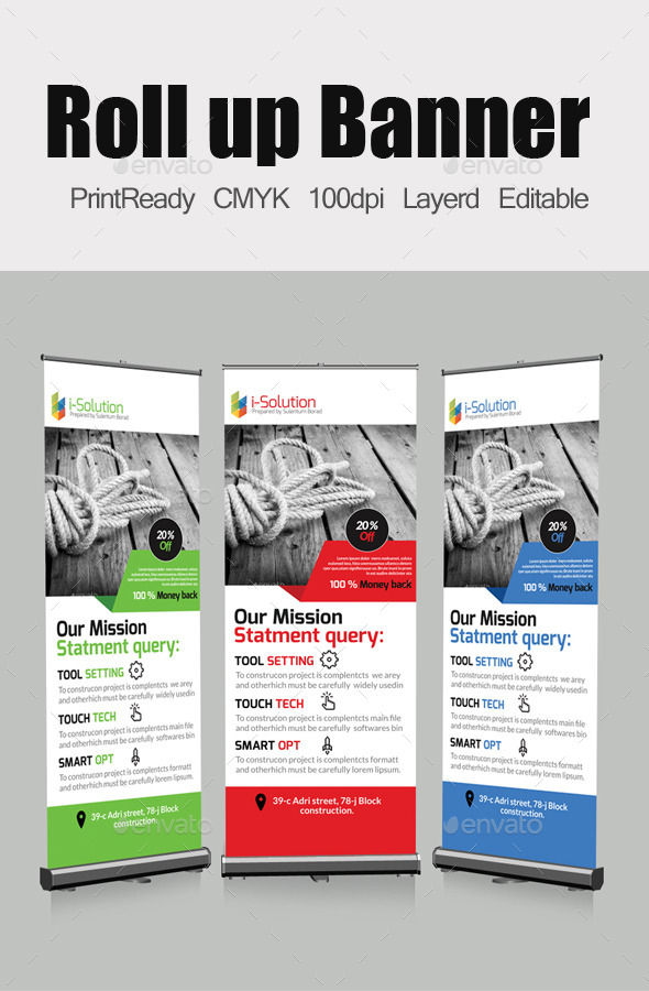 GraphicRiver Roll Up Business Banners Template 10840536
