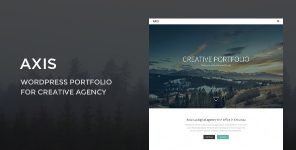 ThemeForest Axis WordPress Portfolio for Creative Agency 10476123