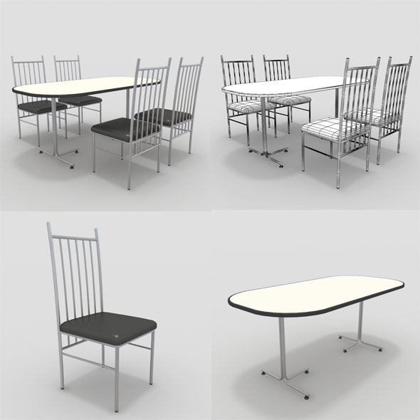 3DOcean Table with Chairs-1 10840656