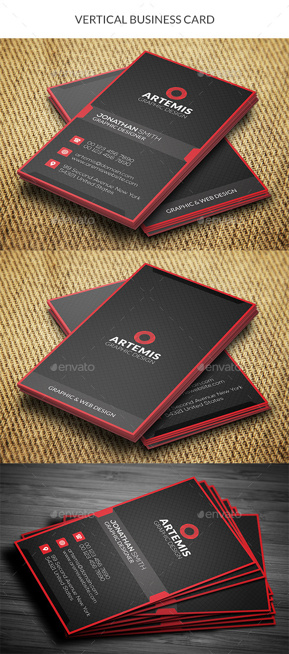 GraphicRiver Vertical Business Card 10840714