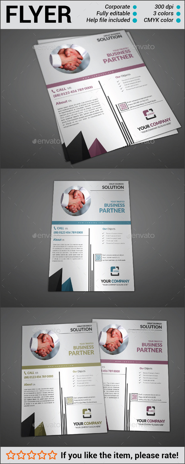 GraphicRiver Multipurpose Corporate Flyer 10840746