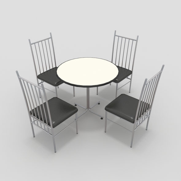 3DOcean Table with Chairs-2 10840747