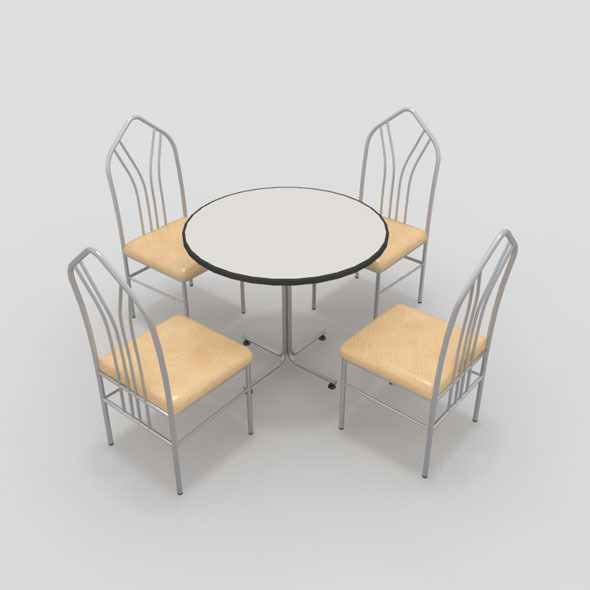 3DOcean Table with Chairs-4 10840947