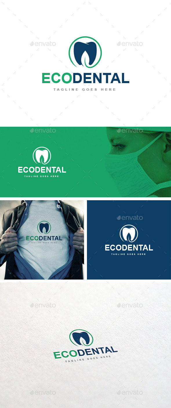 GraphicRiver Eco Dental logo Template 10841013