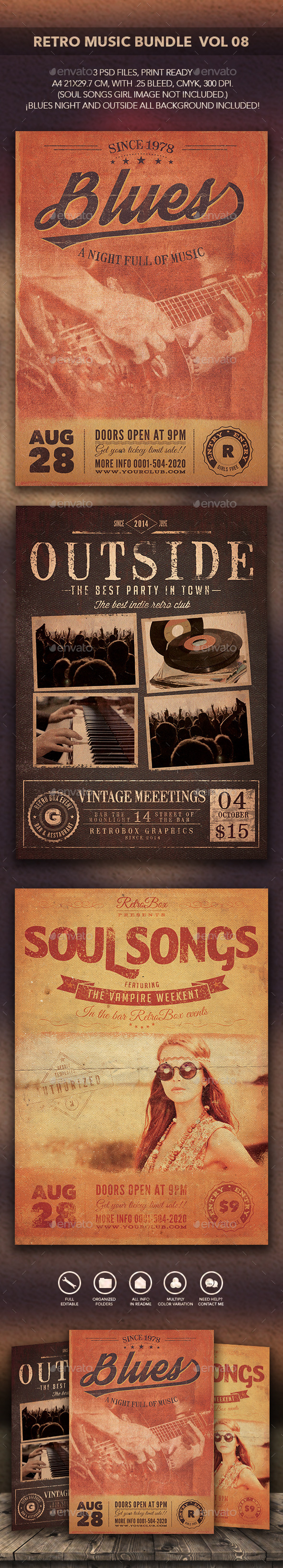 GraphicRiver Retro Music Bundle Vol 08 10841121