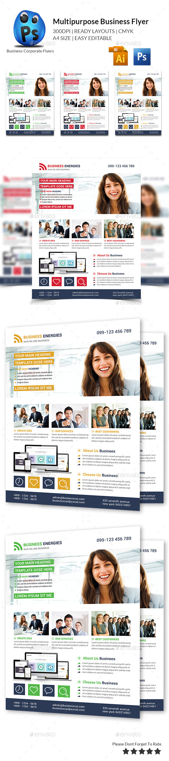 GraphicRiver Multipurpose Business Flyer Template 10776769