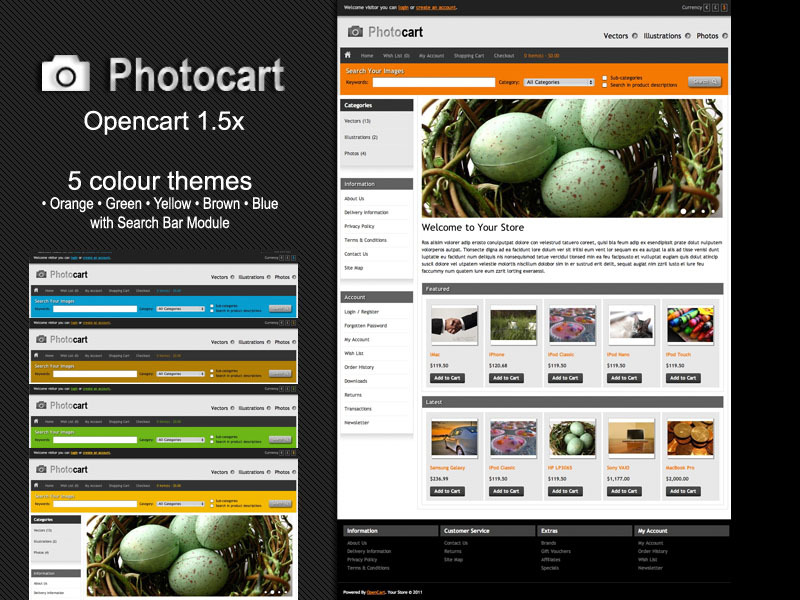 PhotoCart - Premium Opencart Themes