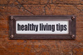 healthy living tips - file cabinet label - PhotoDune Item for Sale