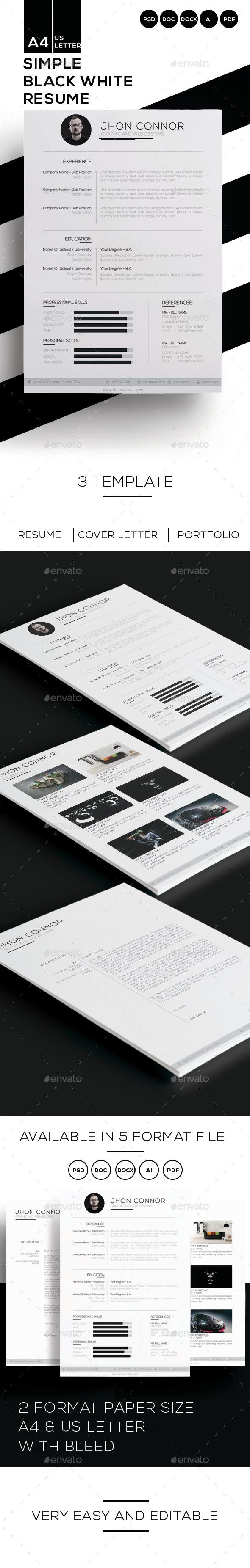 GraphicRiver Simple Resume 10841225