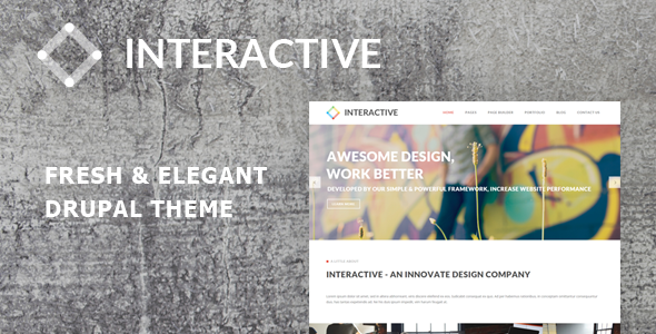 ThemeForest Interactive Elegant & Creative Drupal Theme 10841226