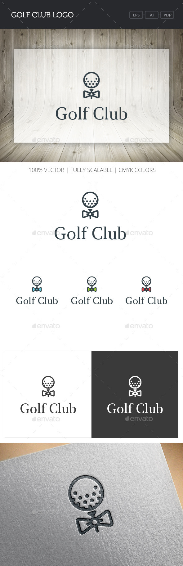 GraphicRiver Golf Club Logo 10841229