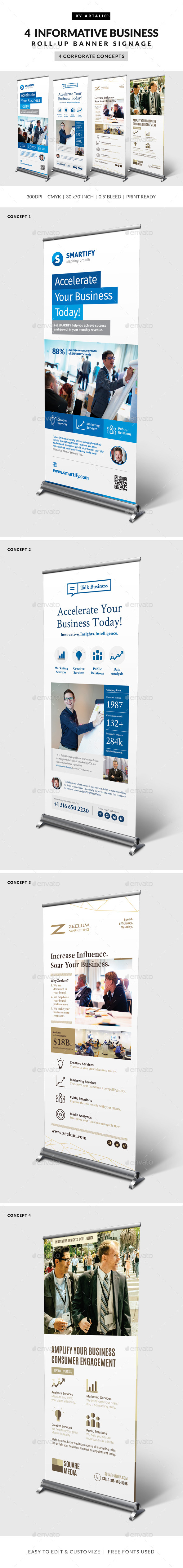 GraphicRiver 4 Corporate Business Roll-up Banners 10841256