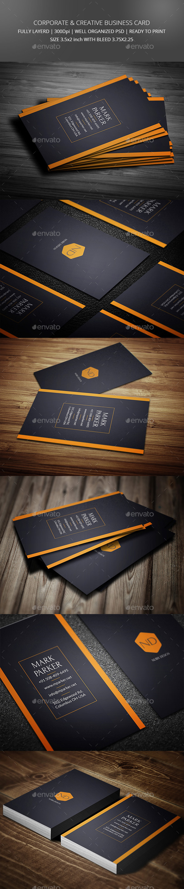 GraphicRiver Creative and Corporate Business Card 10841257