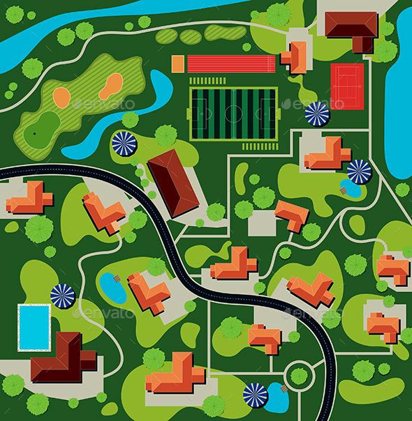 GraphicRiver City Plan 10841267