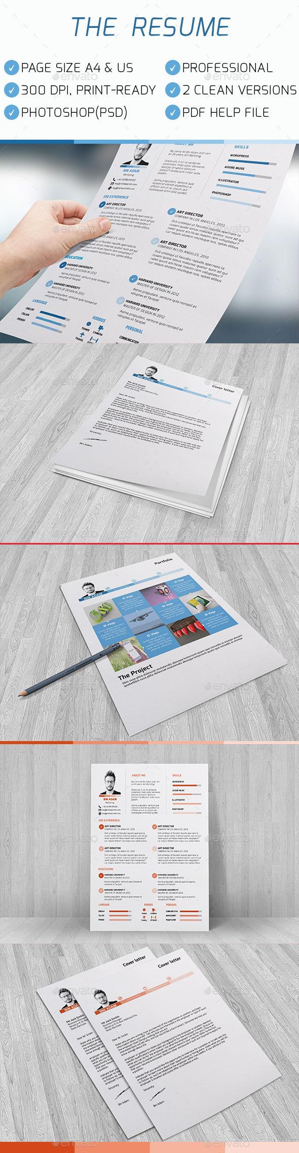 GraphicRiver The Resume 10693976