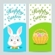 Brochures with Happy Easter with Easter Bunny - GraphicRiver Item for Sale