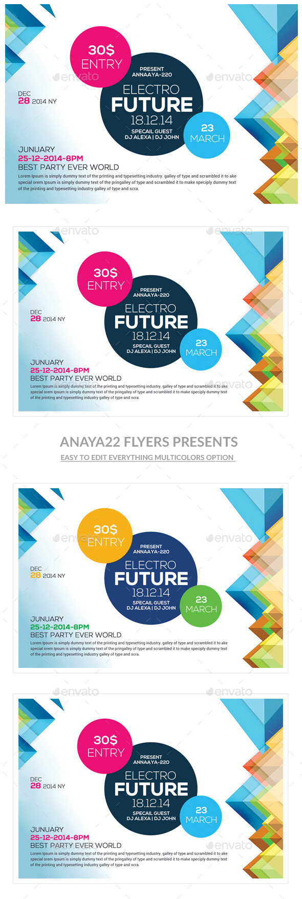 GraphicRiver Futuristic Flyer Psd Templates 10841536