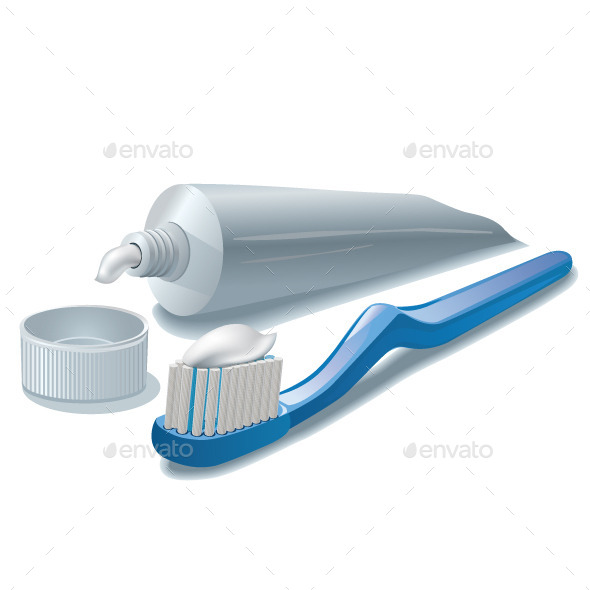 GraphicRiver Toothpaste and Toothbrush 10841600