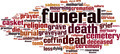 Funeral Word Cloud Concept - PhotoDune Item for Sale