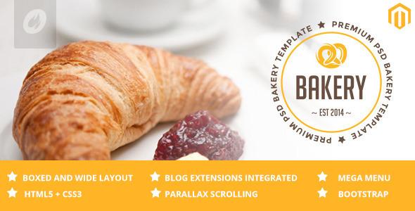 ThemeForest Bakery Cakery & Bakery Magento Responsive Theme 10754356