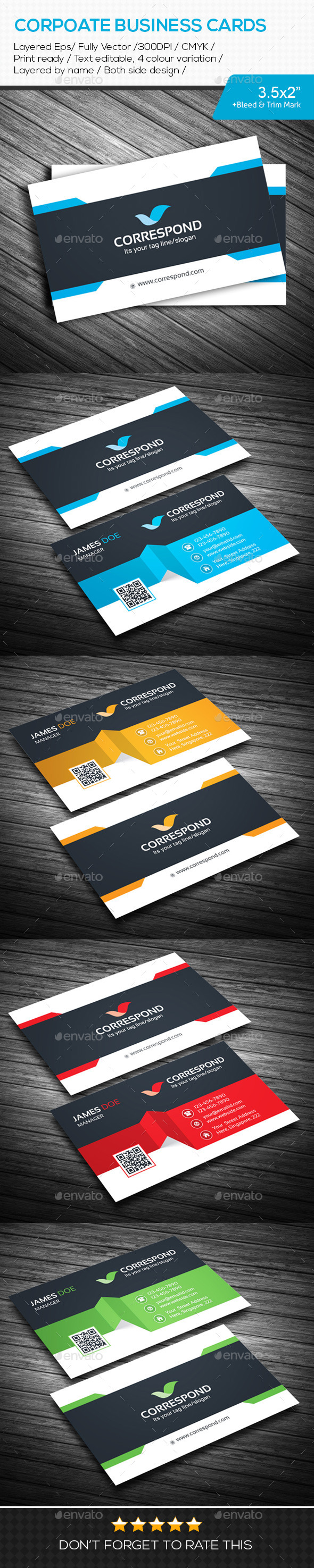 GraphicRiver CORRESPOND Corporate Business Cards 10841810