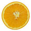 slice of orange fruit isolated on white with working path - PhotoDune Item for Sale