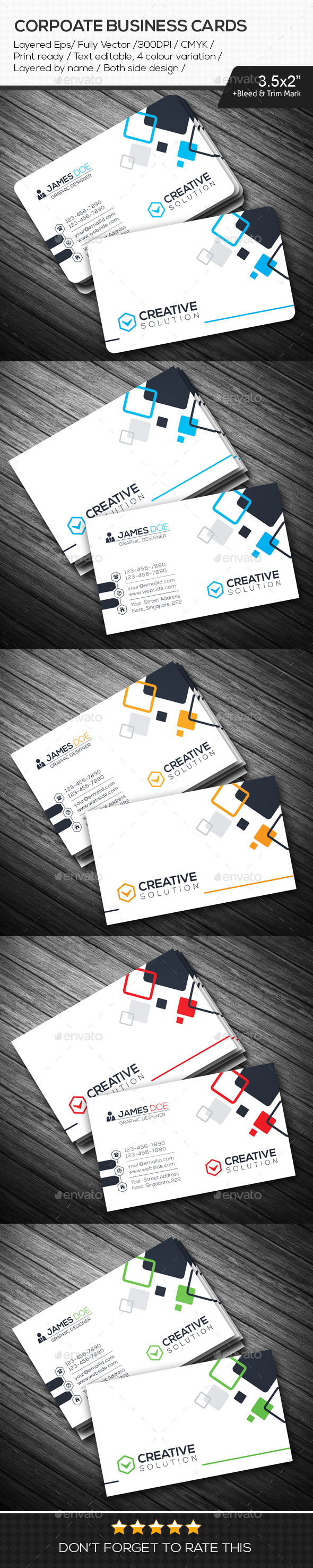 GraphicRiver Creative Solution Corporate Business Cards 10842344