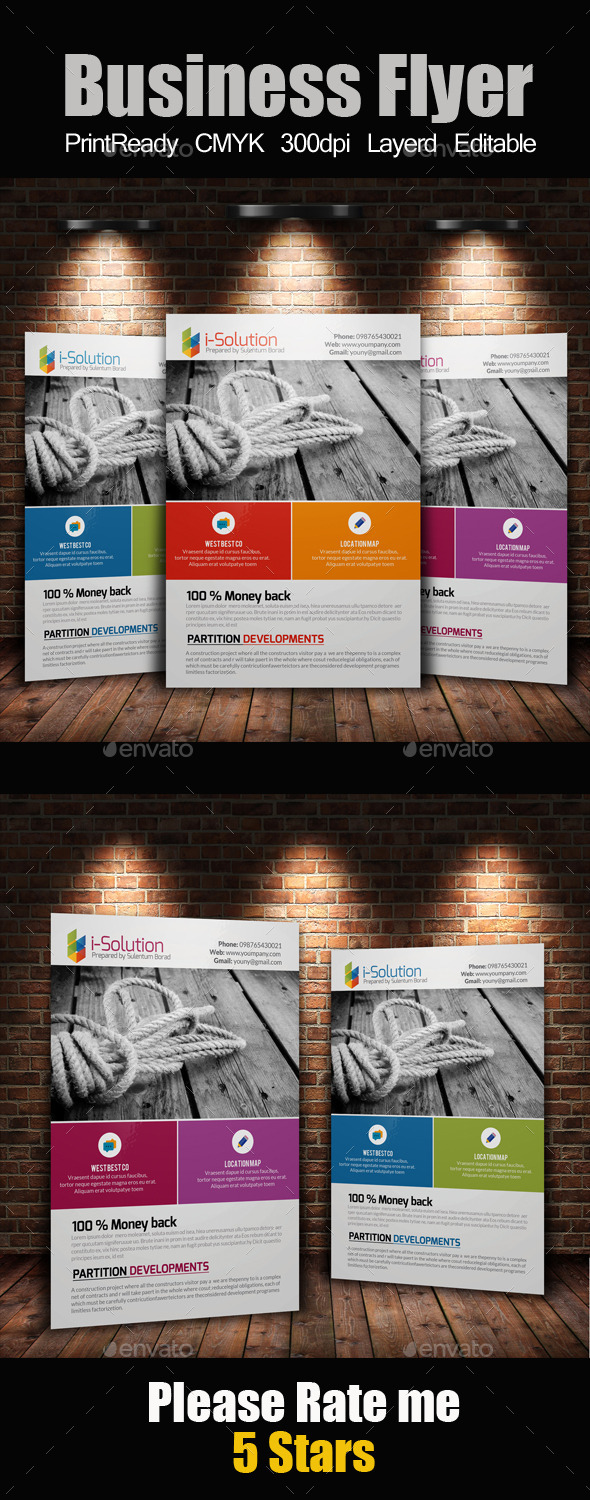 GraphicRiver A4 Business Flyer Template 10842735