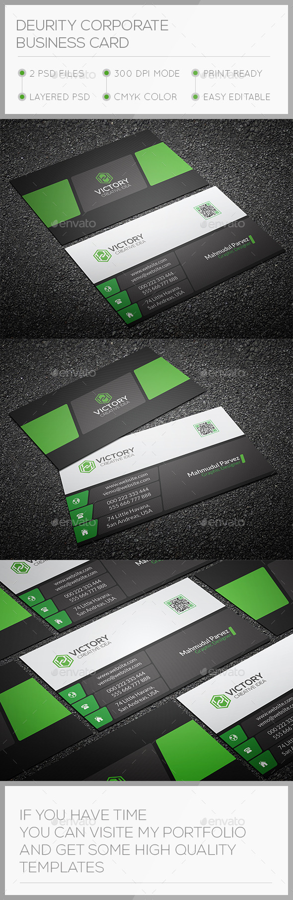 GraphicRiver Deurity Corporate Business Card 10842838