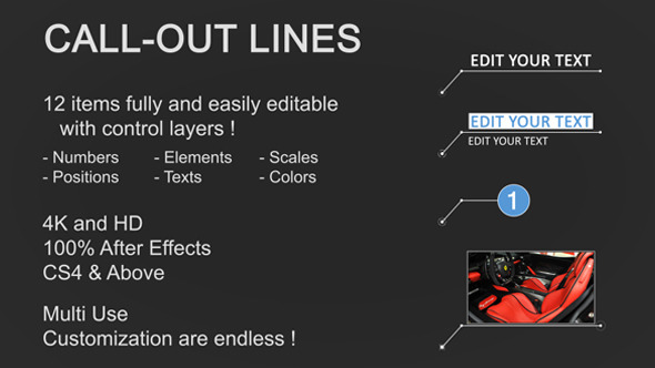 Line Call-Outs (Infographics)