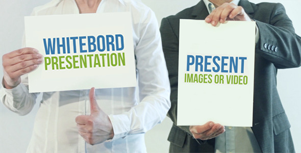 AE模板:白板公司业务推广介绍宣传模板Videohive White Board Presentation