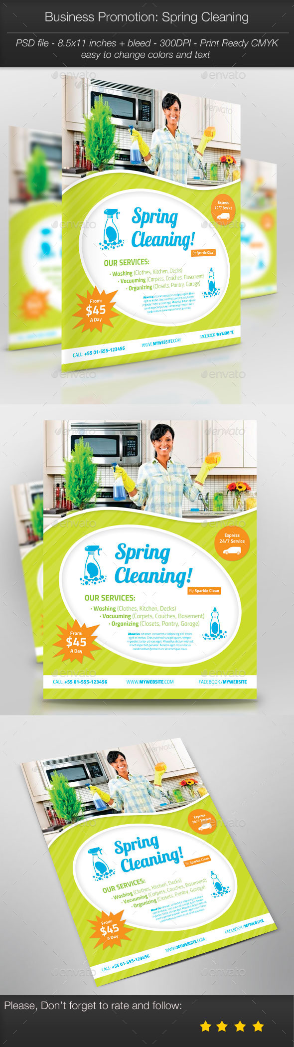 GraphicRiver Business Promotion Spring Cleaning 10843126