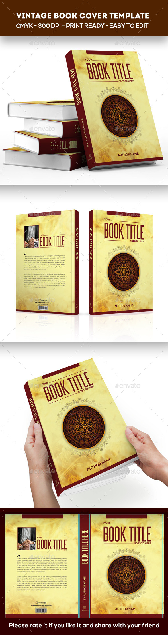 GraphicRiver Vintage Book Cover Template 10843191