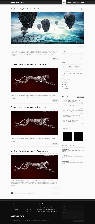 VEYRON - HTML/CSS